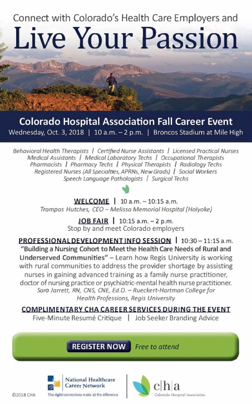 Colorado Hospital Association Fall Career Event