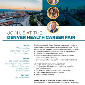 Join Us At The Denver Health Career